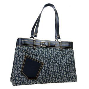 Christian Dior Trotter Pattern Hand Tote Bag